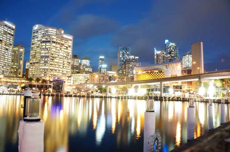 Darling Harbour is beautiful by day and night <3 --Sydney, Australia.