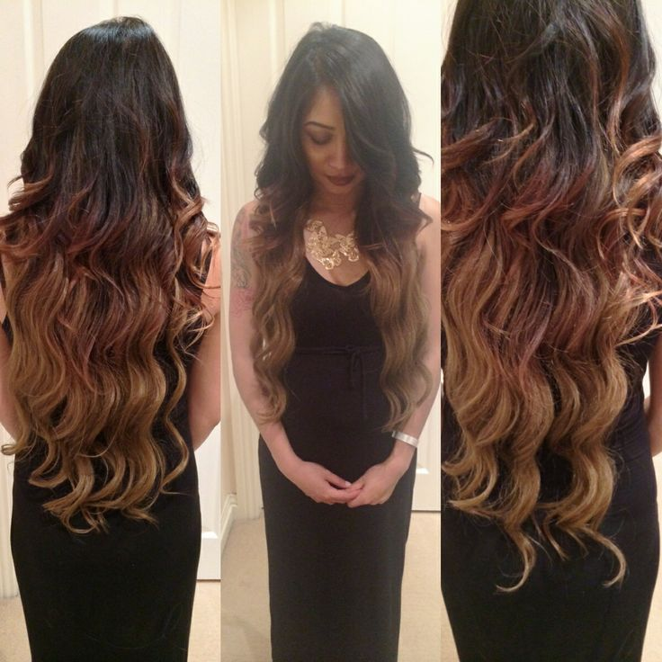 Hair extensions ombre hair curls