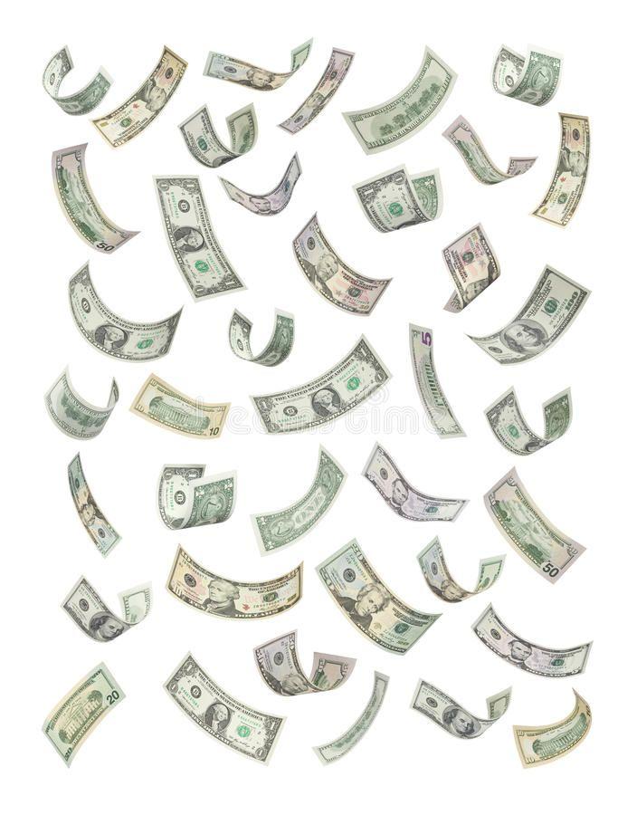 American Money Falling Raining American Money Notes Bills Raining Or Falling Affiliate Raining Money Notes Raining Money Stock Images Free Rain