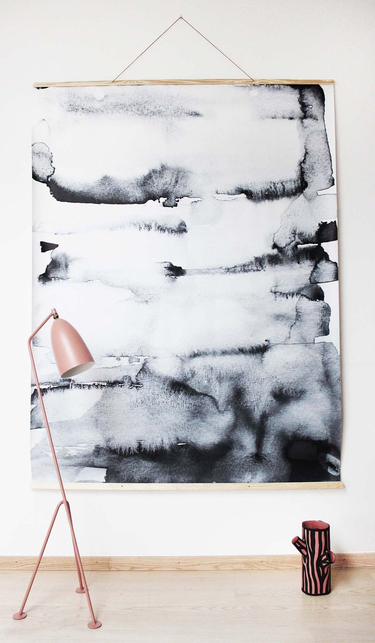 Wall watercolor idea + Lamp GUBI vase wrong for Hay http://decdesignecasa.blogspot.it