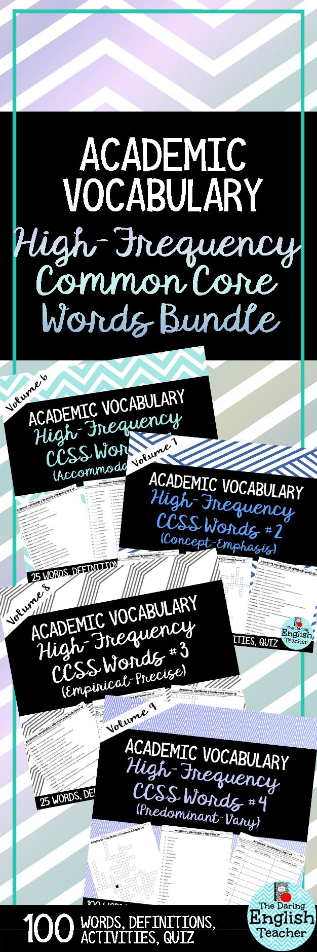 Teach high-frequency common core academic vocabulary words to your middle and high school English language arts students and help them improve their performance in class and on standardized tests.