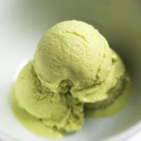 "Alton Brown's Avocado Ice Cream Recipe   |    ""The trick to using avocados for ice cream is to think of them as eggs. They're even shaped the same. Coincidence? I think not."""