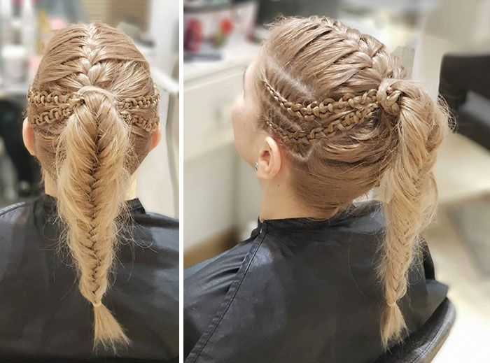 Braided Viking Inspired Hairstyle Viking Hair Hair Styles Viking Braids