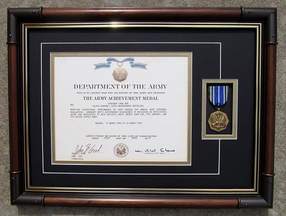 framing military awards