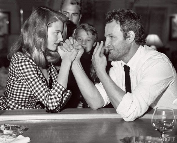 Dree Hemingway and Jason Clarke for Vogue, Photo by Bruce Weber // June's Best Entertainment Photography -- Vulture