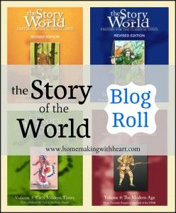 """Story of the World Blog Roll (2014) - If you're using """"Story of the World"""" for your history, come and link up your posts or just find other families who are using it, so we can connect and share ideas and tips from one another, and pass on book lists and ideas for extra activities and projects. homemakingwithheart.com"""