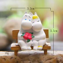 3,5 cm Seltene Sammlung Paar Mumin Nette Snorkmaiden Puppe PVC Action Figure Landschaft Terrarien Beste Kind Spielzeug Freies verschiffen WYQ(China (Mainland))