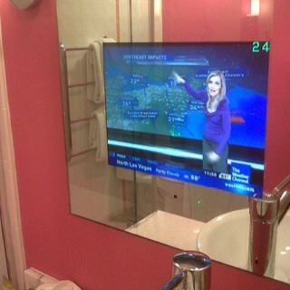 In Mirror TV For Bathroom