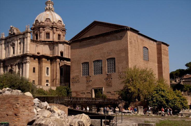 Curia Julia... the third meeting house of the Senate in the forum, currently the church of Saint Adriano