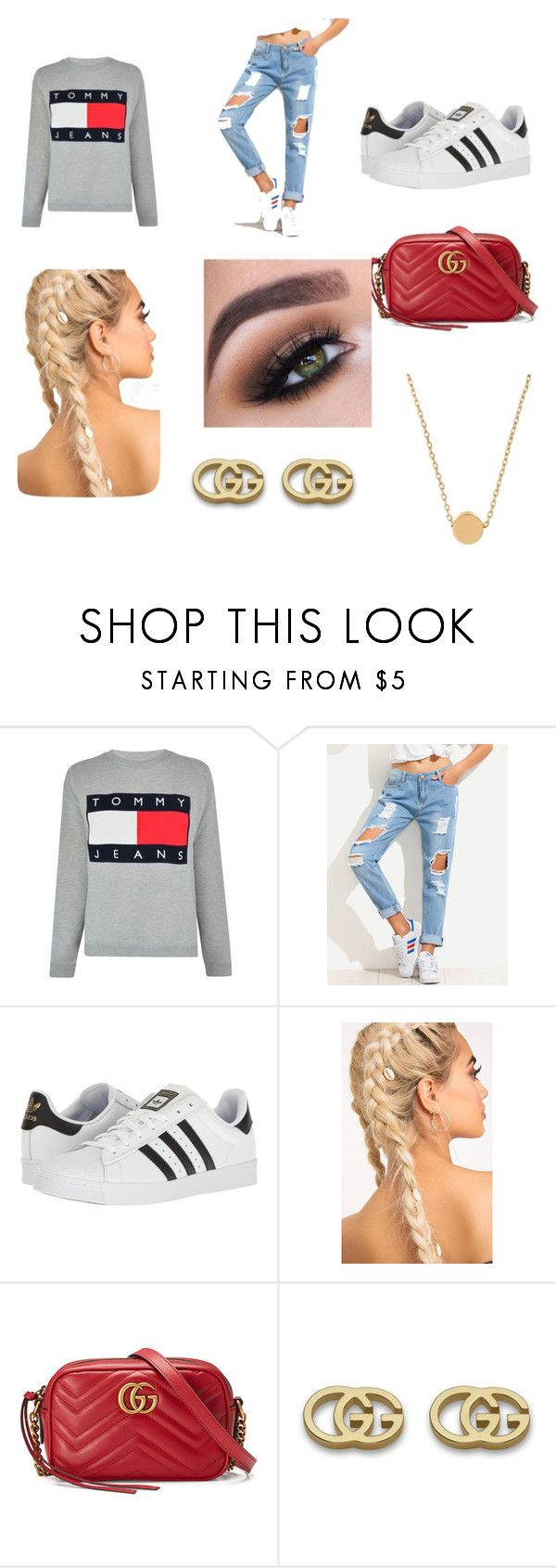 """""""Casual"""" by indiac-joseph on Polyvore featuring Tommy Hilfiger, adidas, Gucci and Minnie Grace"""