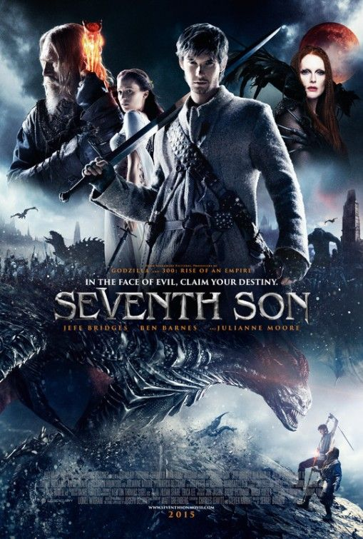 SEVENTH SON (2015) - Ben Barnes, Jeff Bridges, and Julianne Moore. Youtube (trailer) : https://www.youtube.com/watch?v=TXiNkOjM7oM: