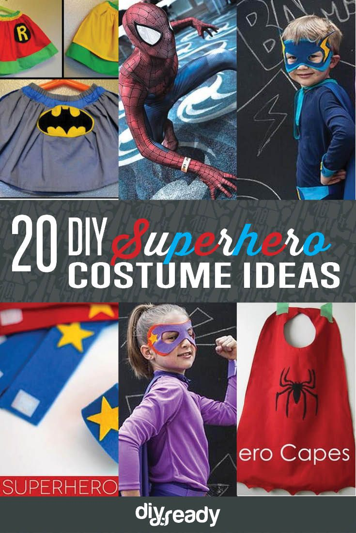 20 DIY superhero costume ideas, see more at http://diyready.com/diy-superhero-costume-ideas