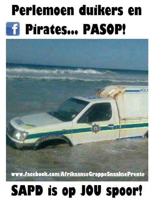 Perlemoen duikers en pirates passop!...   Suid Afrikaanse grappe en humor