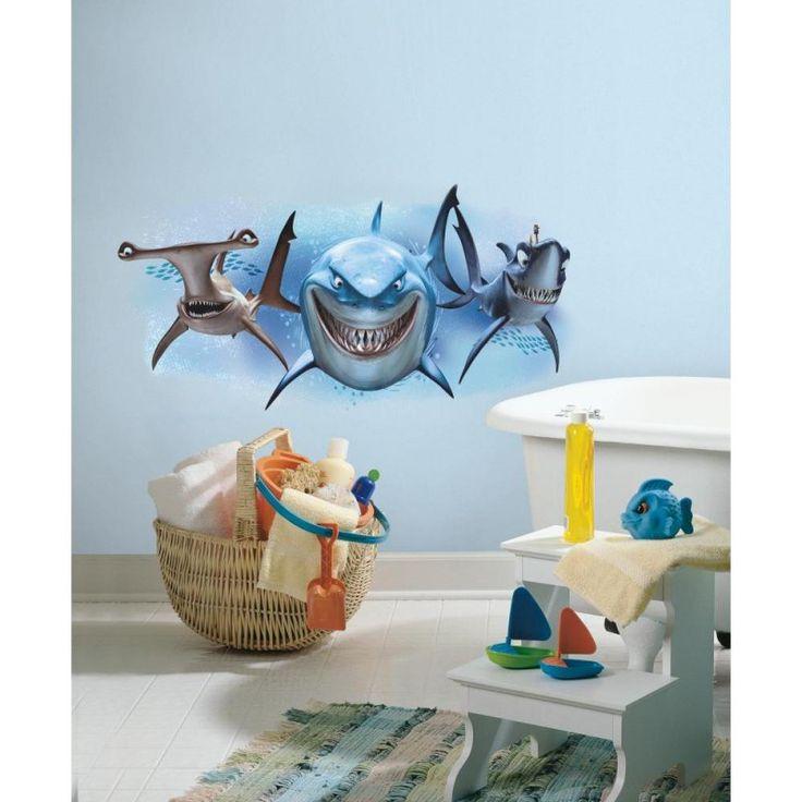Stickers géant muraux Nemo requins ambiance