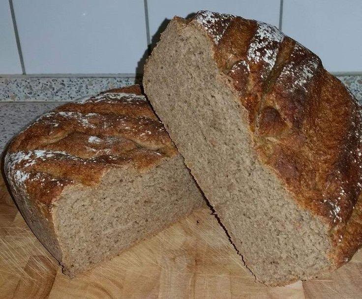 Rezept Bergmanns Brot ... ein herzhaft, würziges Brot, innen saftig und außen wunderbar knusprig von claudimaus1266 - Rezept der Kategorie Brot & Brötchen