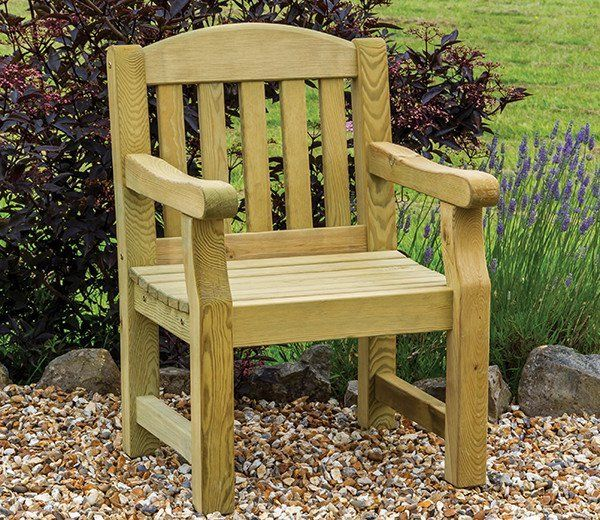 the emily wooden garden chair can be used either as an individual chair placed attractively in