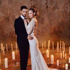 Камерная свадьба для двоих: стилизованная съемка