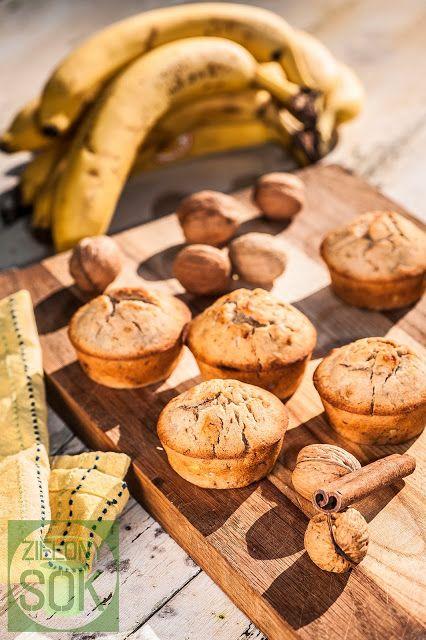 Zielony Sok : Muffiny Bananowo Orzechowe