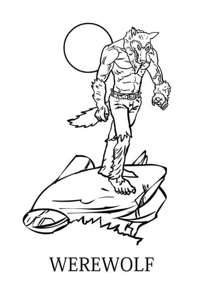 Scary Werewolf Coloring Pages Free Coloring Sheets Halloween Coloring Pages Coloring Pages Werewolf