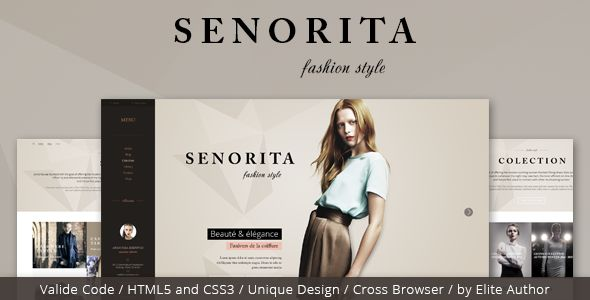 Senorita Responsive HTML Template   http://themeforest.net/item/senorita-responsive-html-template/8095836?ref=damiamio      Senorita Responsive HTML Template  Senorita Responsive HTML Template – was designed for gossip, fashion and celebrity websites. The template is the best solution for future fashion shops, for gossip portals or simply for celebrity  	 magazines. The template comes with different page templates. The design is responsive and seo optimized. The style is unique and awesome…