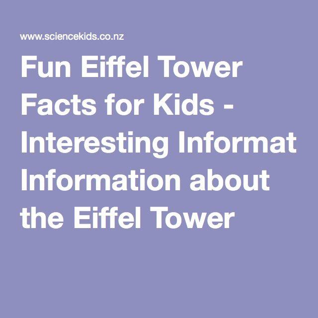 25+ best ideas about Eiffel tower information on Pinterest | Tour ...