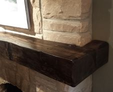 Wrap Around Barn Beam Mantel Fireplaces Pinterest