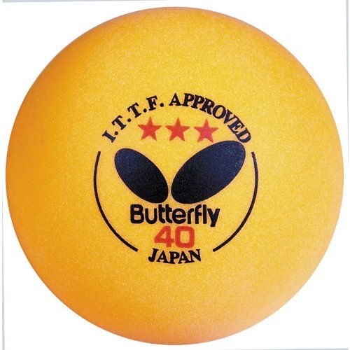 Orange Butterfly 12 Pack ITTF Table Tennis Balls « StoreBreak.com – Away from the busy stores