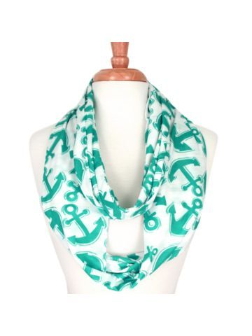 Aqua Anchor Infinity Scarf, OOO a must have <3