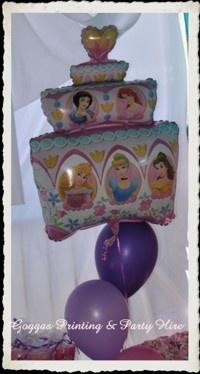 princess cake balloon