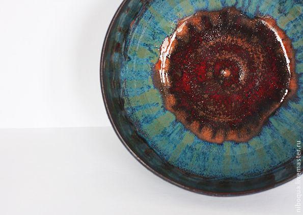 Блюдо керамическое Каттлейа - блюдо, блюдо для фруктов, Керамическое блюдо, тарелка, керамическая тарелка