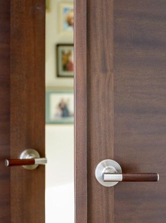 StileLine double door with astragal and wood/steel lever handles & 33 best StileLine - A Modern Interior Beauty images on Pinterest ...