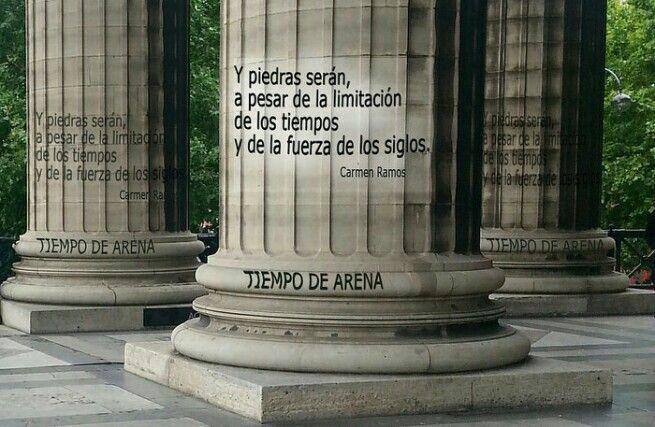 El lamento  de la piedra: Poema visual  de Carmen  Ramos