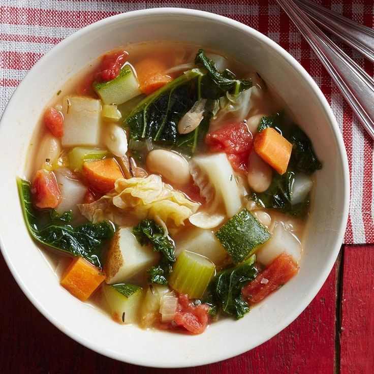 Ribollita, a traditional hearty Tuscan soup, typically uses day-old bread to add body and thicken the broth. This ribollita recipe uses a bean mash, which keeps the soup gluten-free and adds fiber. Garnish with extra-virgin olive oil or pepper and grated Parmesan.
