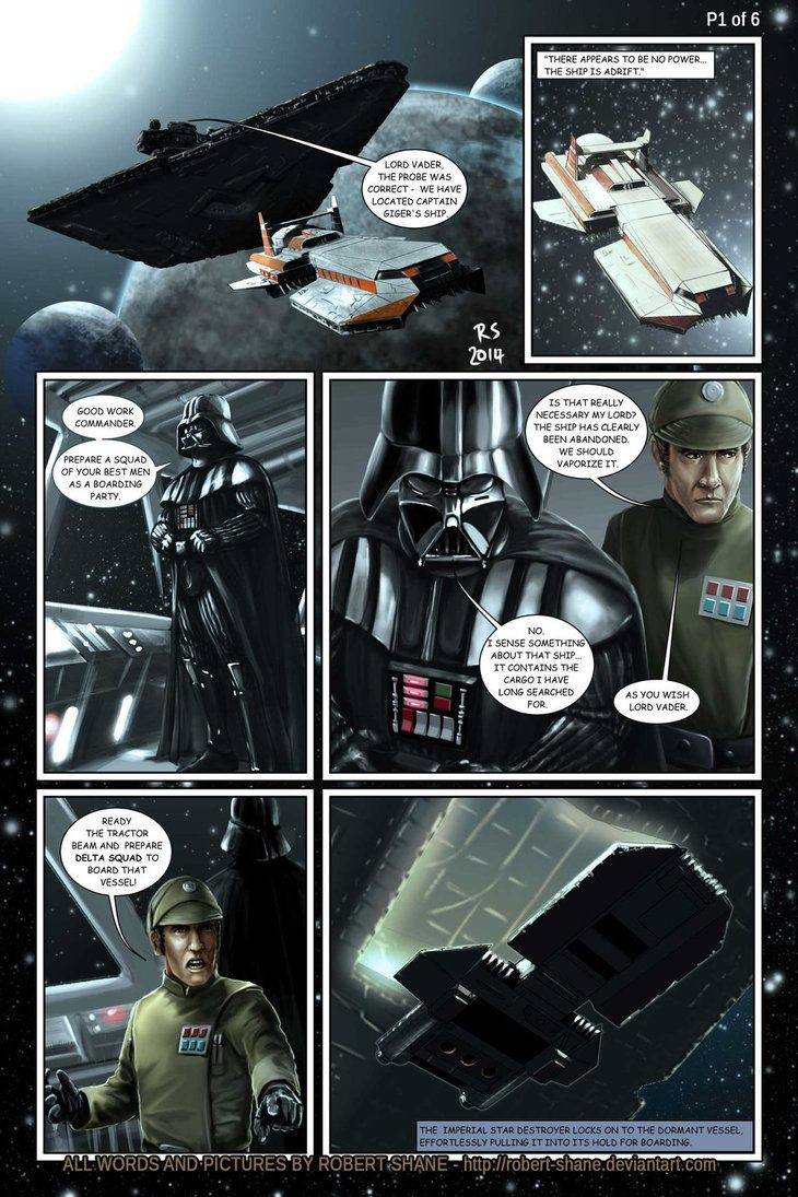 Star Wars vs Aliens - short story - page 1 of 6 by Robert-Shane on deviantART