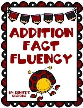 Addition Fact Fluency ~ Sums to 10 and 20