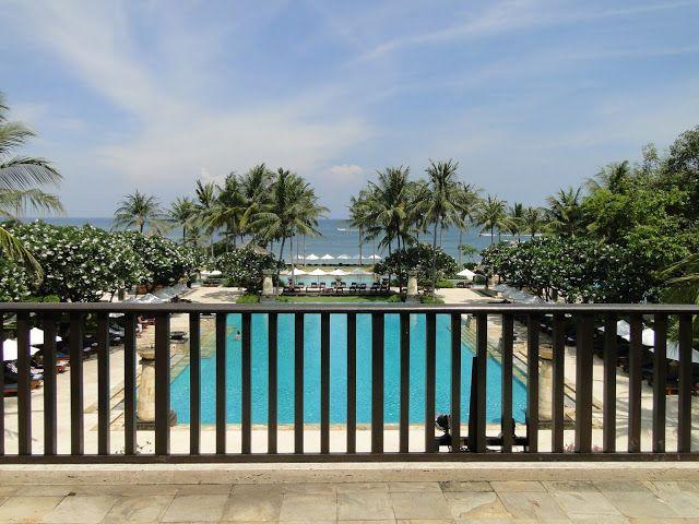 Stunning view from the lobby at Conrad Bali