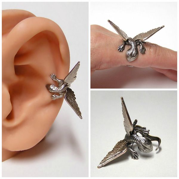 Mini dragons that can then be attached to make earring or decorate a ring.