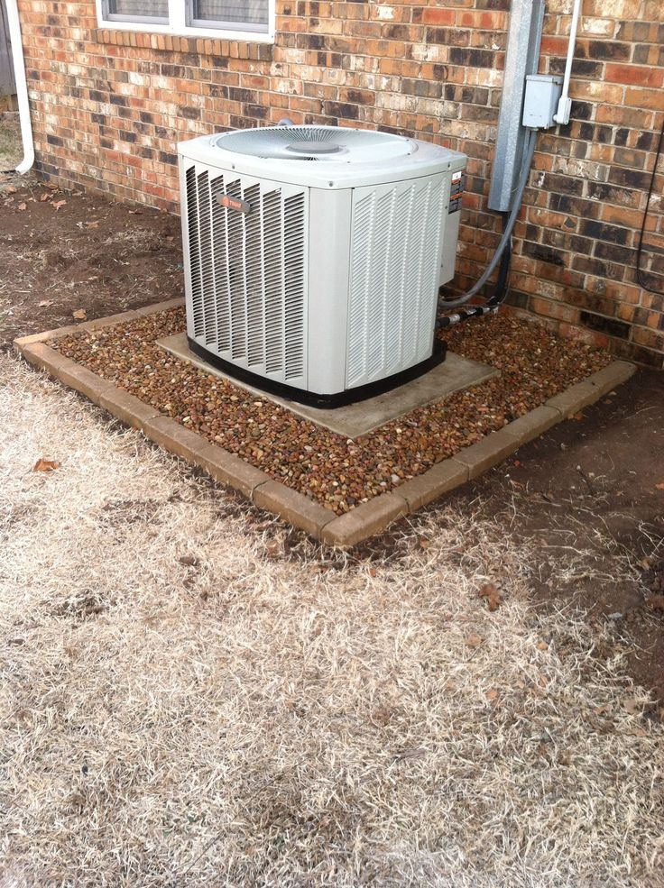 Added rock around A/C unit today. We're very pleased with the way it turned out.