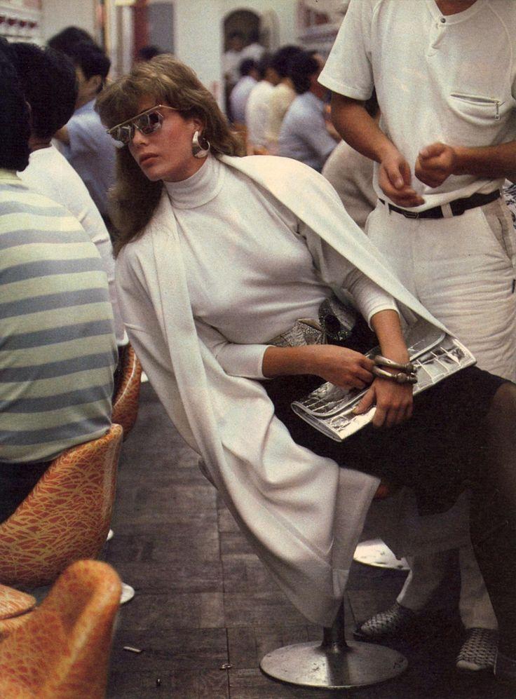 Kelly LeBrock by Denis Piel for Vogue US, December 1985