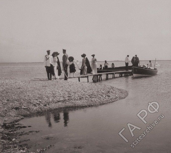 Tsar Nicholas II and his daughters in the Finnish Skerries, 1912