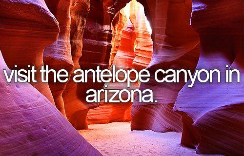 visit the antelope canyon in arizona.