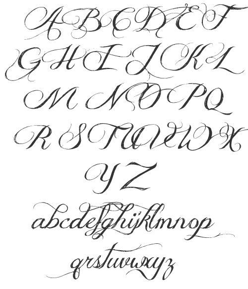 1000 id es sur le th me alphabet de police de caract res sur pinterest polices d 39 criture - Police ecriture tatouage ...