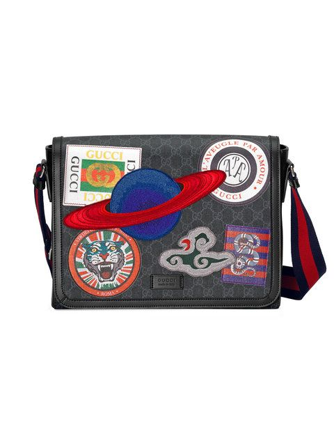 3653fa1a551 GUCCI Night Courrier GG Supreme flap messenger.  gucci  bags  canvas   leather  lining  shoulder bags  linen  nylon  cotton