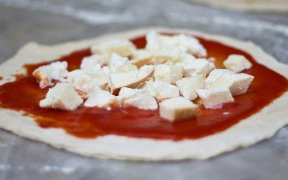 La pizza di casa.