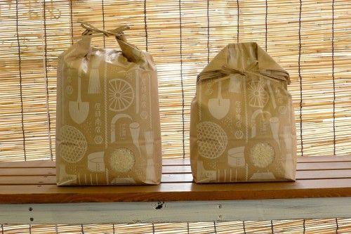 gift bag rice packaging design