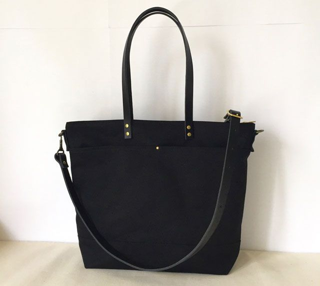 Modern Coup Carrier Tote with 2 front pockets added