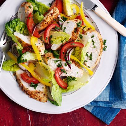 Piri piri chicken salad. For the full recipe and more click the picture or visit RedOnline.co.uk