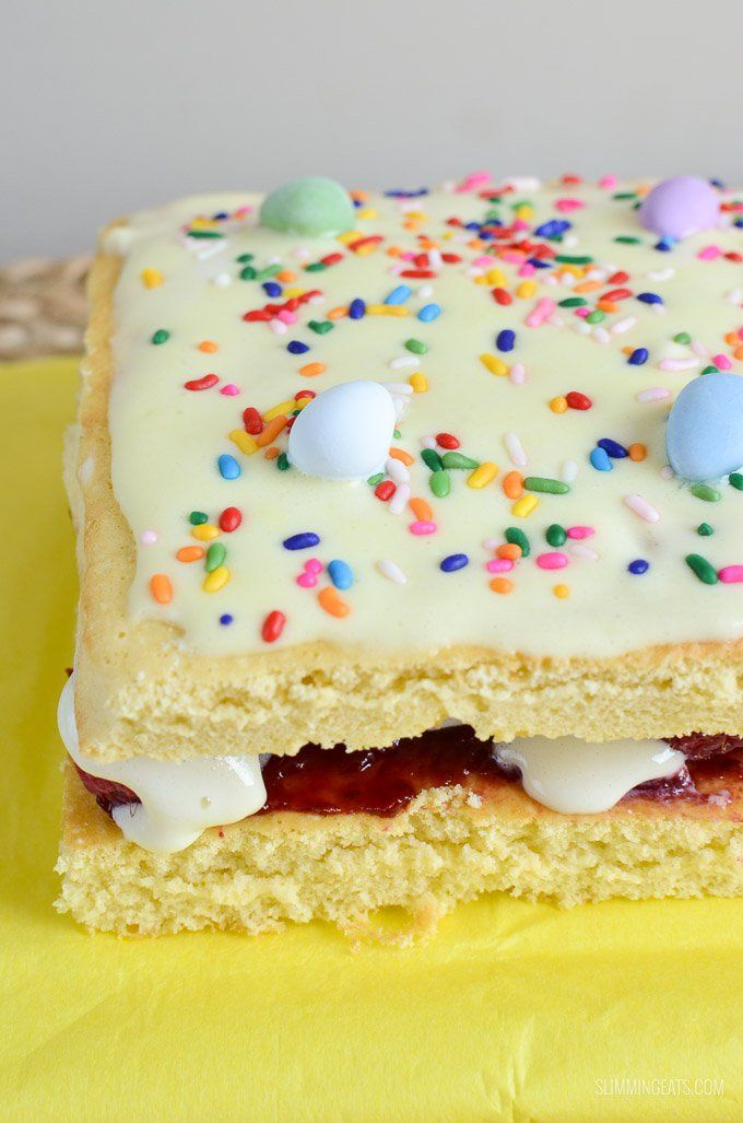 Delicious Slimming World Mini Egg Sponge Cake - a yummy low syn cake that you will want to make again and again.