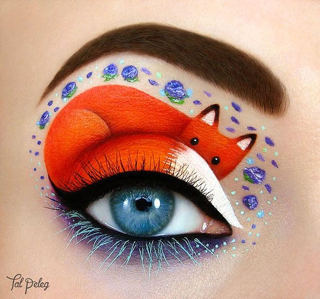 Amazing Make-Up Artist Creates Super-Cute Pictures On A Unique Canvas – Her Eyes