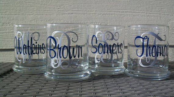 Personalized Monogram And Last Name Candle Holder Set Of 4
